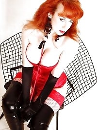 Fishnet stockings, fishnet chair … Red could be the..