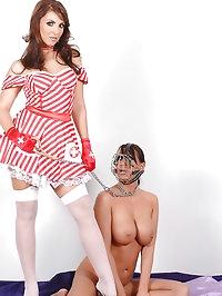 Two busty nurses releasing hot piss