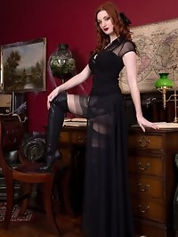 This white witch will enchant you with her black satin,..