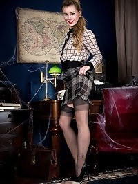 New girl Lucy is brought into a studio set time forgot,..