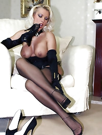 Lana's new stockings make her so horny that she needs cock