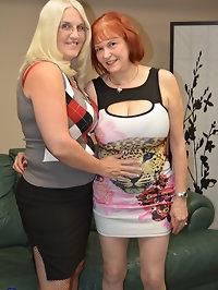 Two mature American lesbians make it big