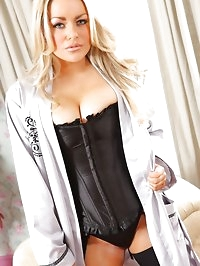 Beautiful Brandy looking sultry in her satin camisole and..