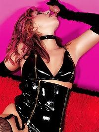 Fetish slut in leather gets hardly pounded