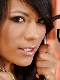 Hot latina Yoha satisfies herself