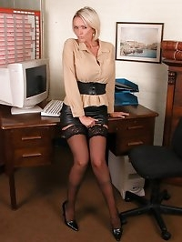 This office slut gets up to all sorts of filthy things..