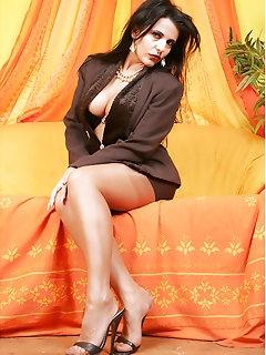 Sexy Brunettes Nylons Photos