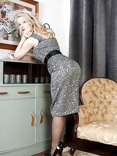 Sexy Nylon Blonde